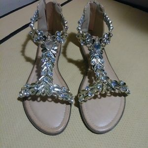 Sandals with Rhinestone Bling
